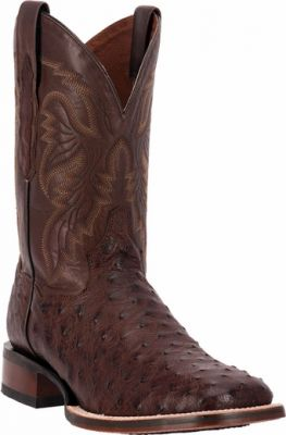 Dan Post Alamosa Chocolate Ostrich Exotic Cowboy Certified Boots DP3875