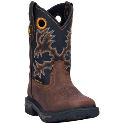 Dan Post Childrens' Ridge Runner Western Boots - Wide Square Toe DPC2690