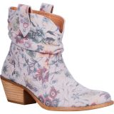 Dingo Women's Jackpot Slouch Suede Booties Off White Floral DI132-WH11