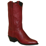 "Abilene 9052 Women's 11"" Tooled Feather Basic Red"