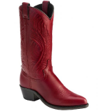 "Abilene 9058 Women's 11"" Tooled Feather Burnished Red"