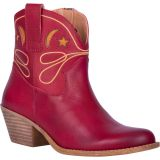 Dingo Women's Red Urban Cowgirl Western Booties - Round Toe DI135