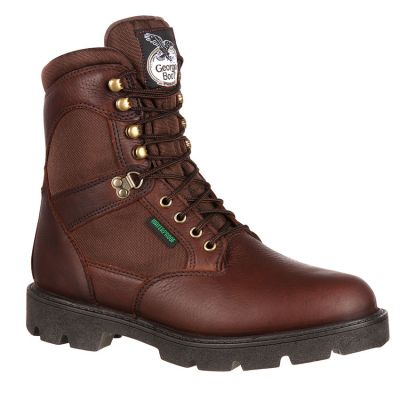 "Georgia Men's 8"" Homeland Steel Toe Waterproof Work Boots G107"